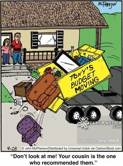Check Out This Cartoon This Is The Perfect Example Of A Cheap Moving Company Call Morrison Moving Now At 905 Moving House Quotes Moving House Moving Company