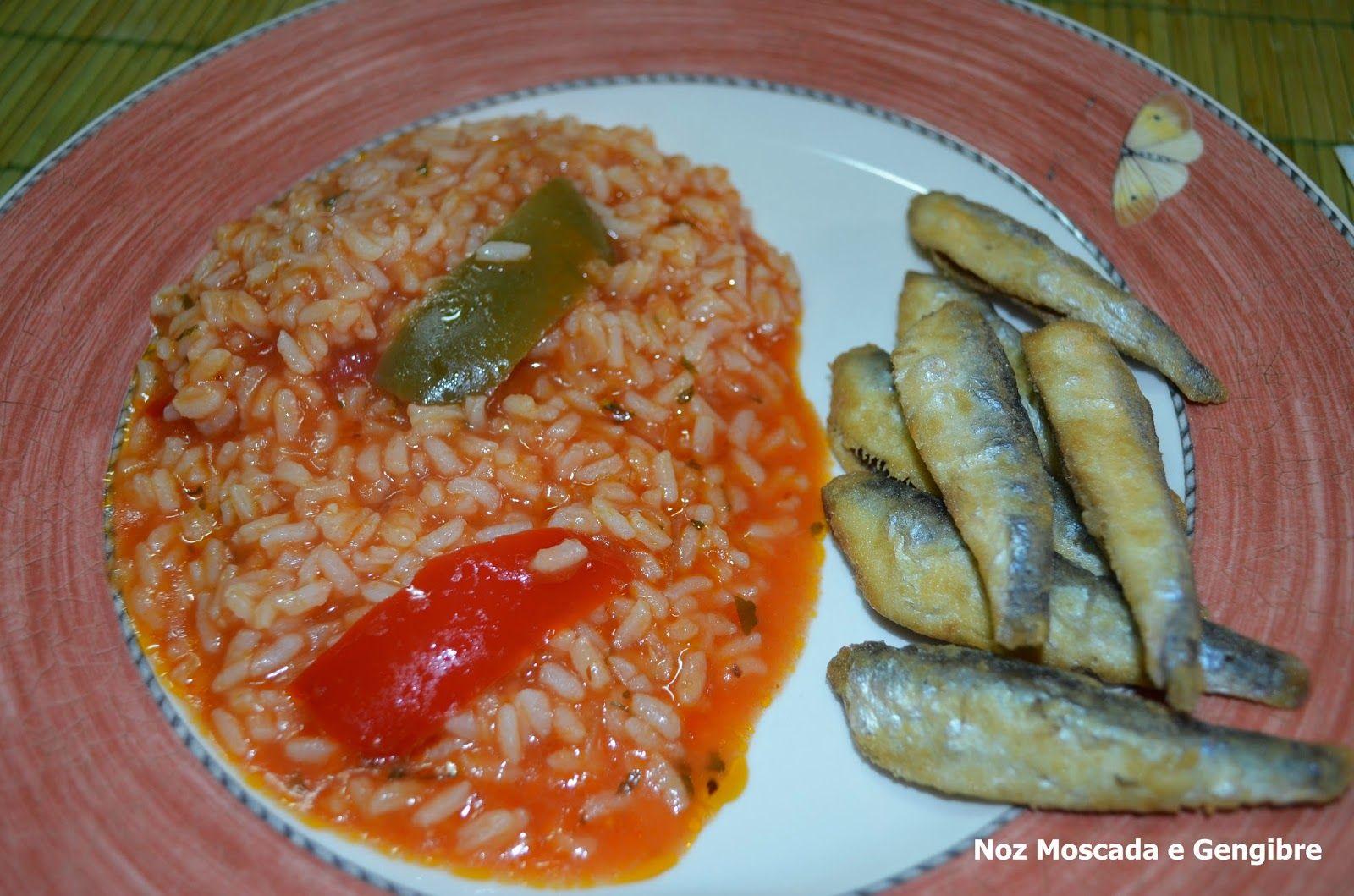 Noz Moscada e Gengibre: Arroz de tomate e pimento