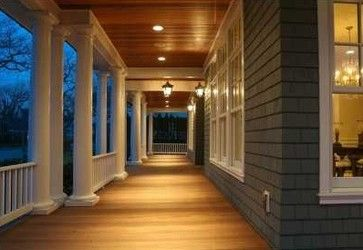 Recessed Outdoor Canned Lighting Porch Design Ideas Pictures Remodel And Decor