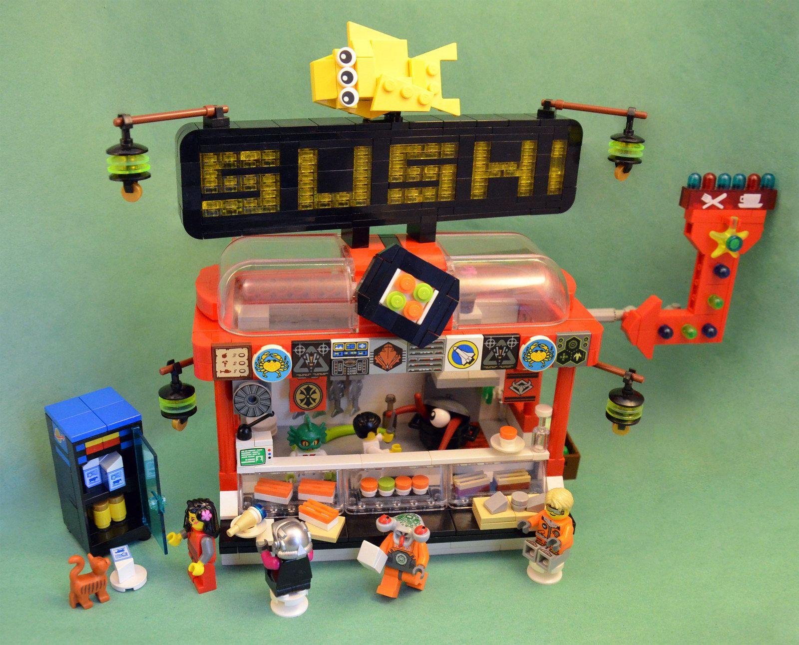 Intergalactic sushi 03 cool lego creations lego
