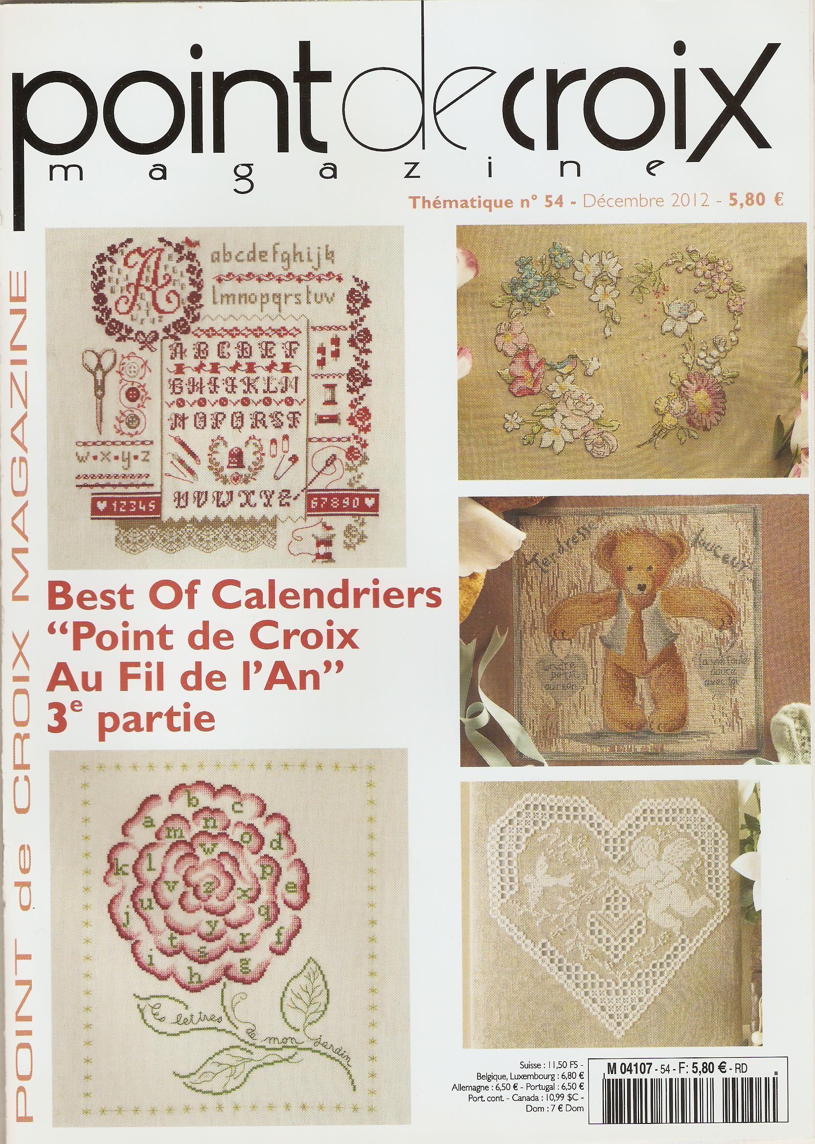 Point de Croix N°54 2012 http://www.pinterest.com/alizg/ | Livres de broderie, Point de croix ...