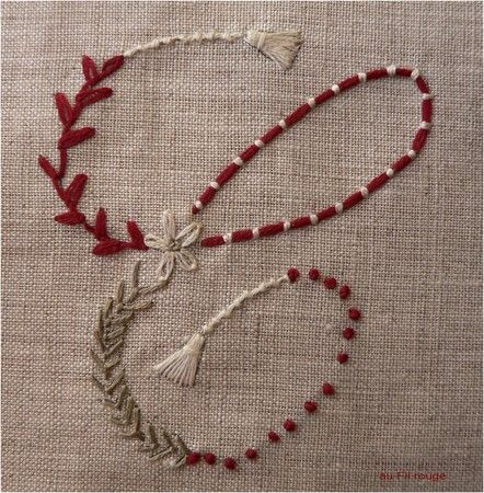 Hand Embroidery Couching French Knots Daisy Tassels Stiching
