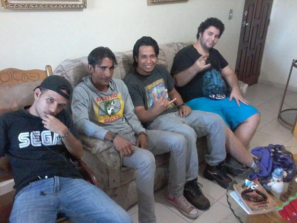 con mis amigos!