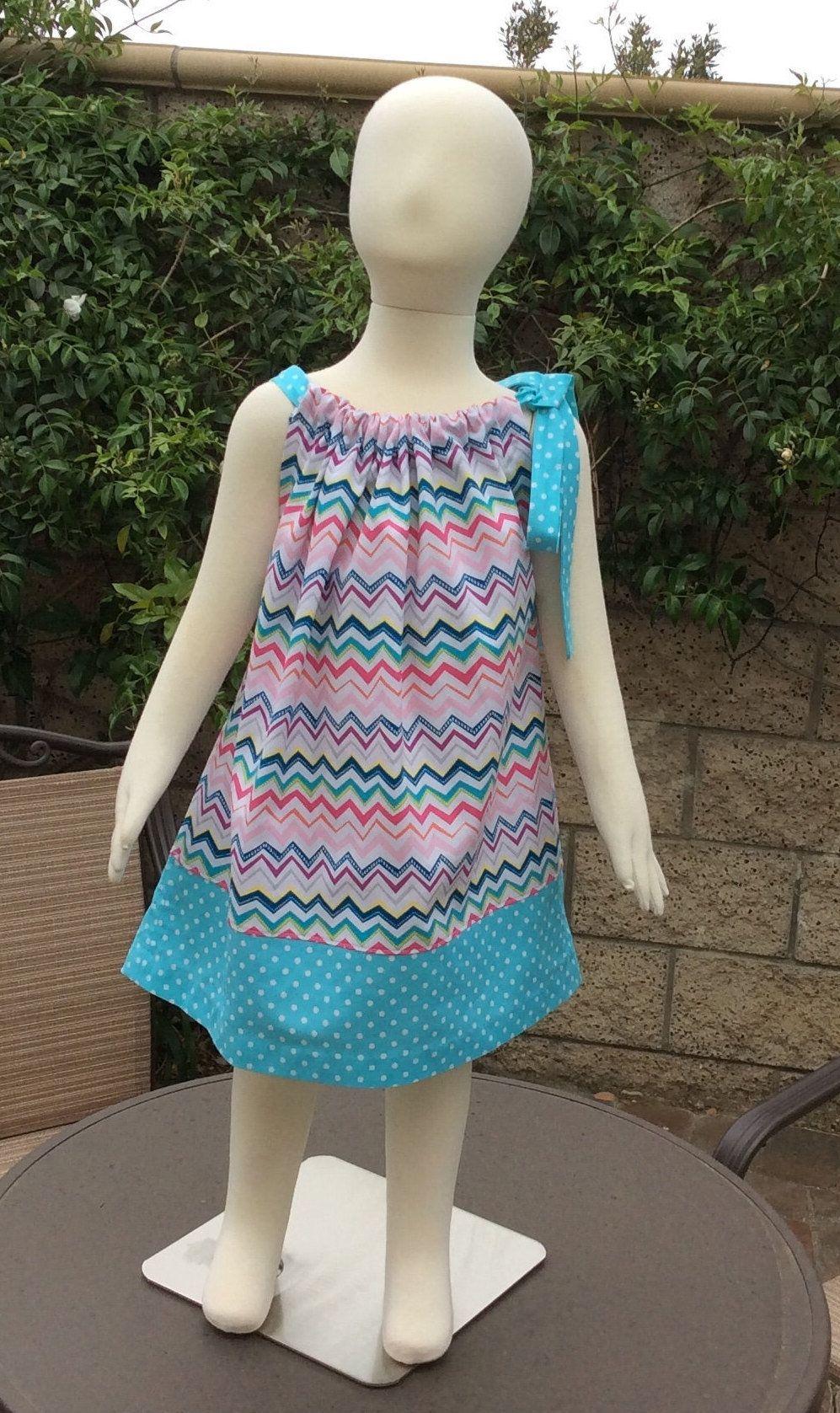 4T sun dress 2T pillowcase dress girls dress summer dress 3T toddler dress Sea Shell Dress