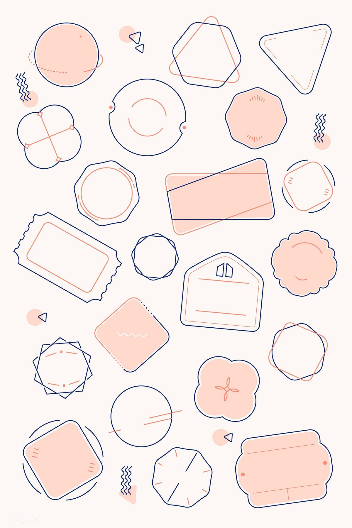 Download premium vector of Blank minimal badge design