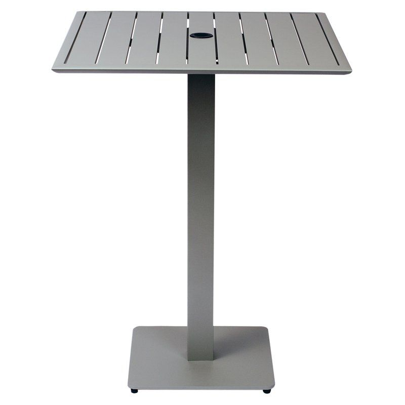 BFM Seating South Beach Aluminum Square Bar Height Patio Dining Table - DVS3232TSUT