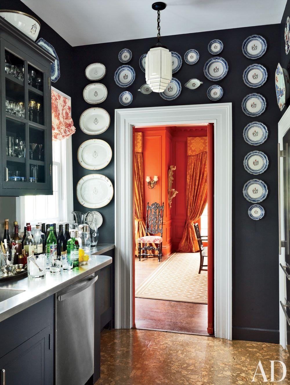 Unique Wall Decor Ideas Antique Plates Beautiful Homes Kitchen