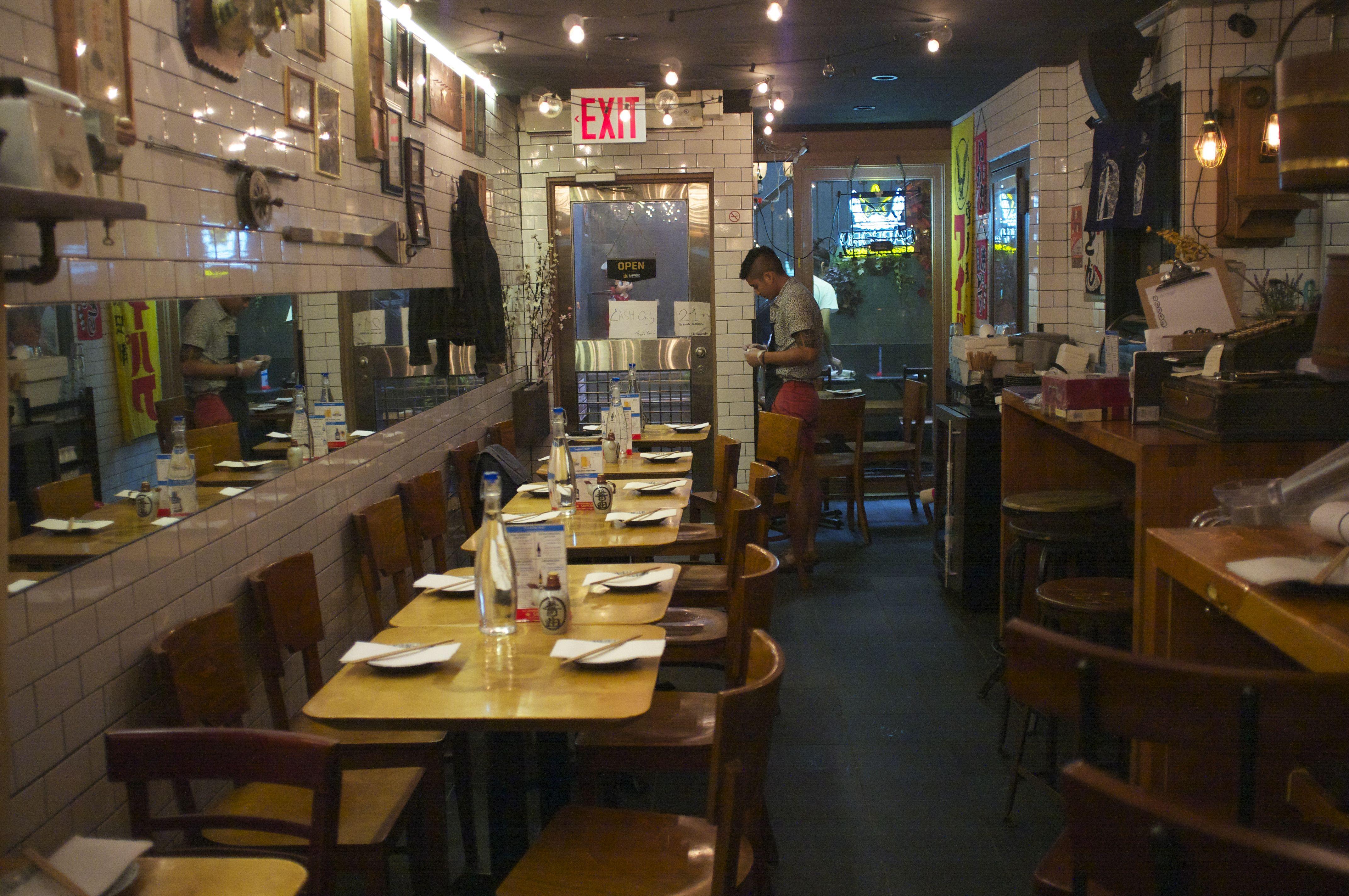 Sake bar offers 12 sapporo pitchers below michelin