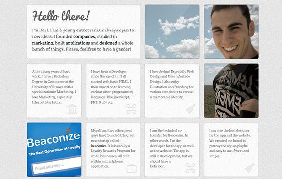 60 Clean and Simple Examples of Portfolio Design | Portfolio Inspiration