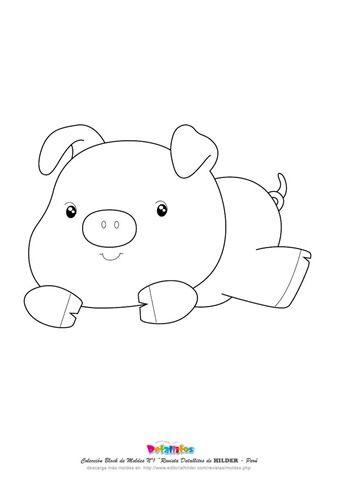 Molde Porco Molde Infantil Porco Desenho E Molde