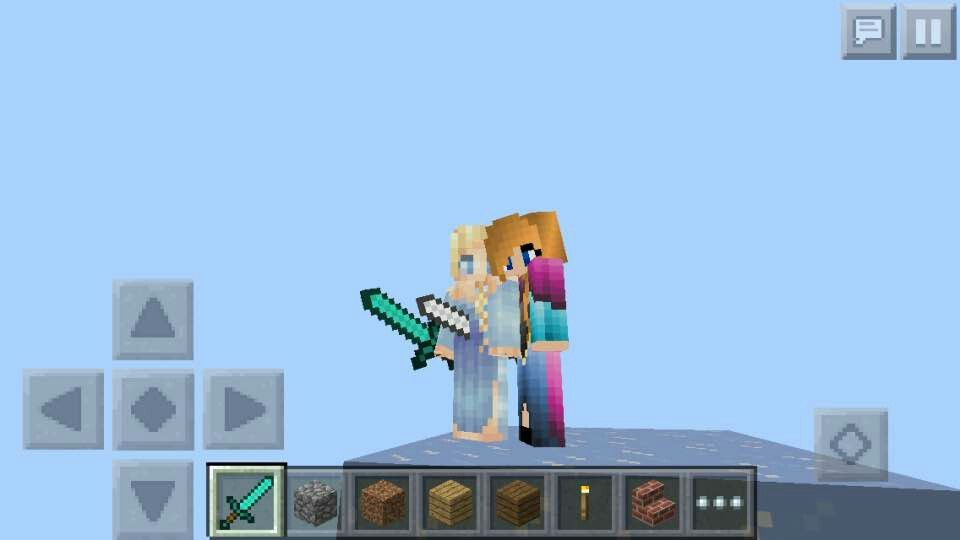 Sisters for life #cutescreenshot  also got this skin on mincraft skins .com and its the first link at the top