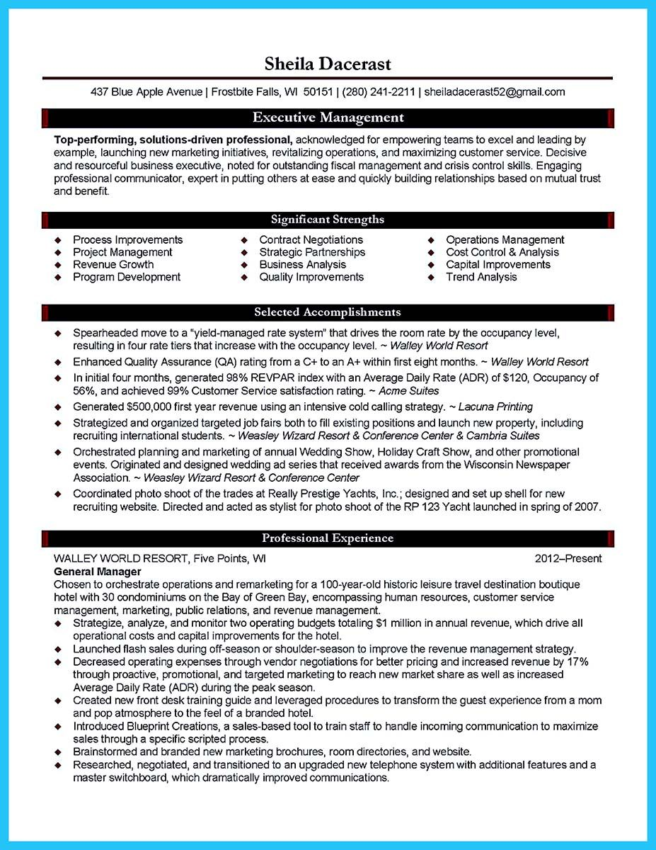 Nice Make The Most Magnificent Business Manager Resume For Brighter