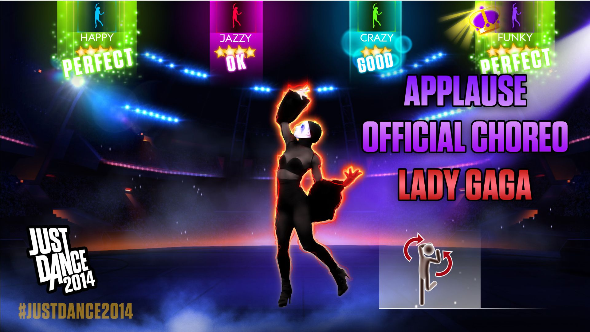 Applause official choreography by lady gaga is available