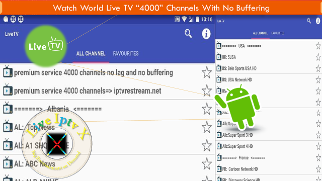 Live TV (IptvRestream net) Apk for Watch Over 4000 Channels