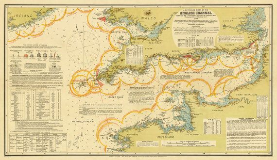 English channel map decorative map navigation map 185 x 32 english channel map decorative map navigation map x print gumiabroncs Image collections
