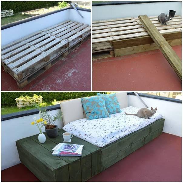 how to build a pallet day bed diy cozy home paletten m bel pinterest palettenm bel. Black Bedroom Furniture Sets. Home Design Ideas
