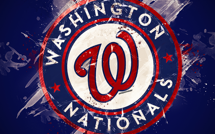 Download wallpapers Washington Nationals, 4k, grunge art