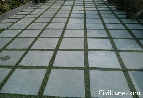 Kota Stone In Garden With Grass Stone Flooring Kota Stone Flooring Patio And Garden