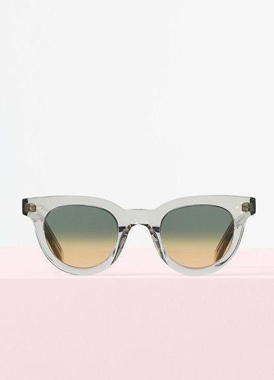 308ba2be0be7 Celine - Anna Transparent Smoke Acetate Sunglasses, Blue & Yellow Shaded  Lenses