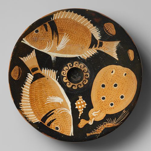 Attributed To The Helgoland Painter Terracotta Fish Plate Greek South Italian Campanian Late Classical The Met Ancient Greek Pottery Greek Pottery Ancient Greek Art