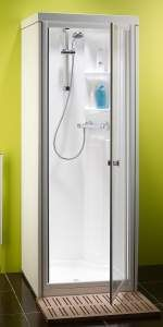 Kubex Kingston Compact One Piece Shower Cubicle Pivot Door Shower Cubicles One Piece Shower Cubicle