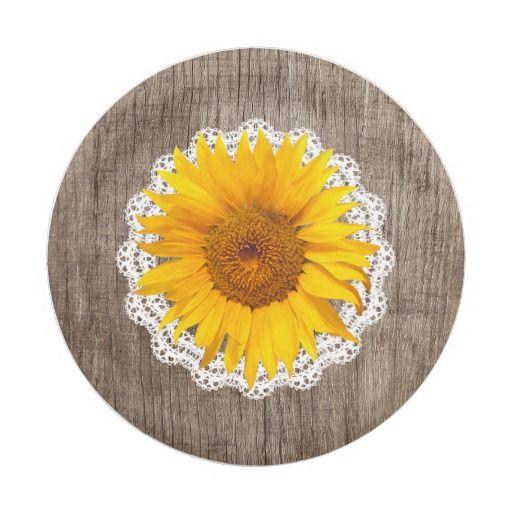Vintage Sunflower Lace Barn Wood Rustic Wedding · Wedding Paper PlatesSunflower ...  sc 1 st  Pinterest & Vintage Sunflower Lace Barn Wood Rustic Wedding | Paper Plates ...