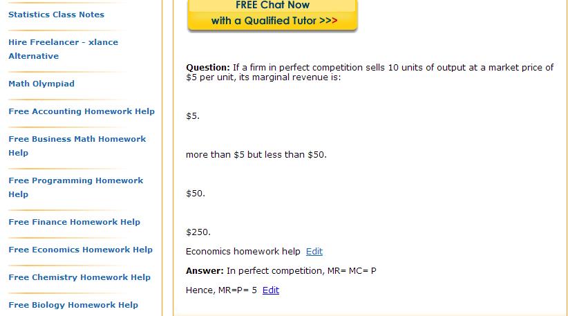 Homework market from 10 dollars