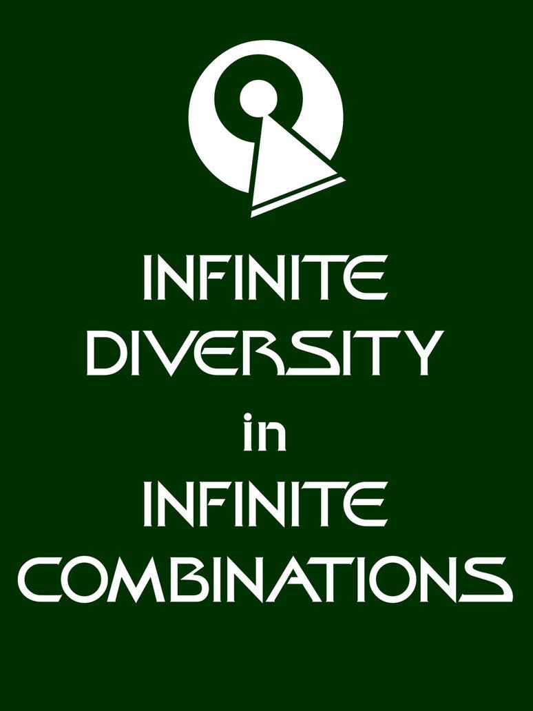 IDIC. Infinite Diversity in Infinite Combinations. Another great ...