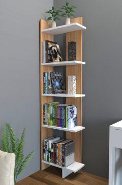 Endizayn alis kitapl k beyaz teak furniture design for Minar muebles