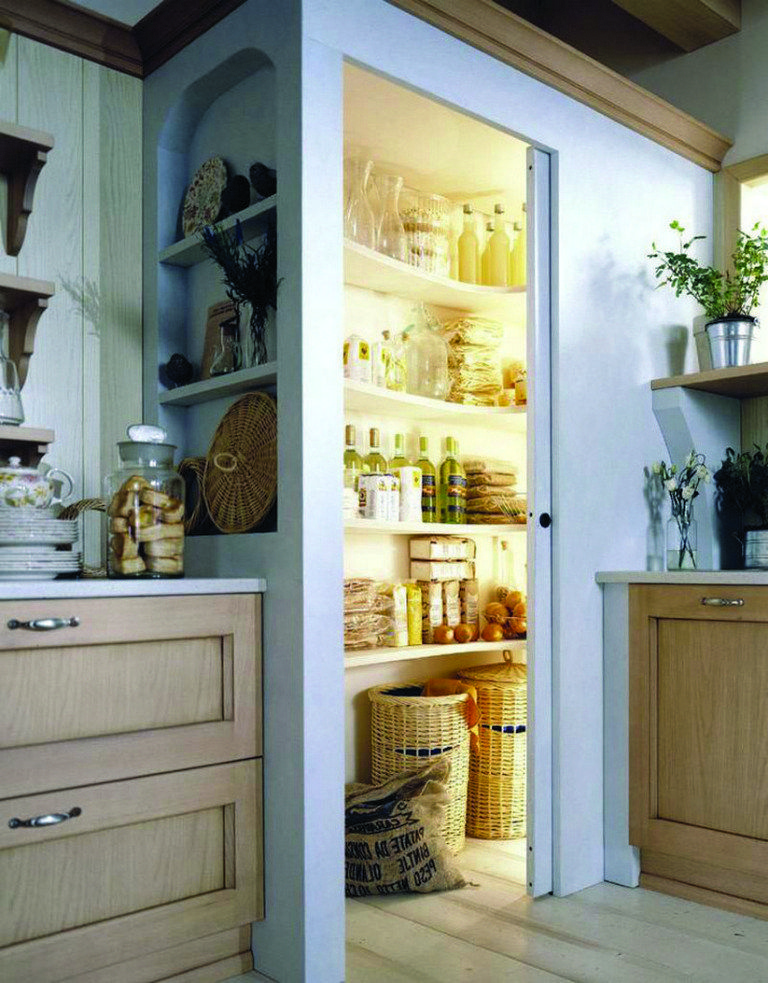 48 gorgeous corner cabinet storage ideas for your kitchen 41 #kitchenpantrydesign