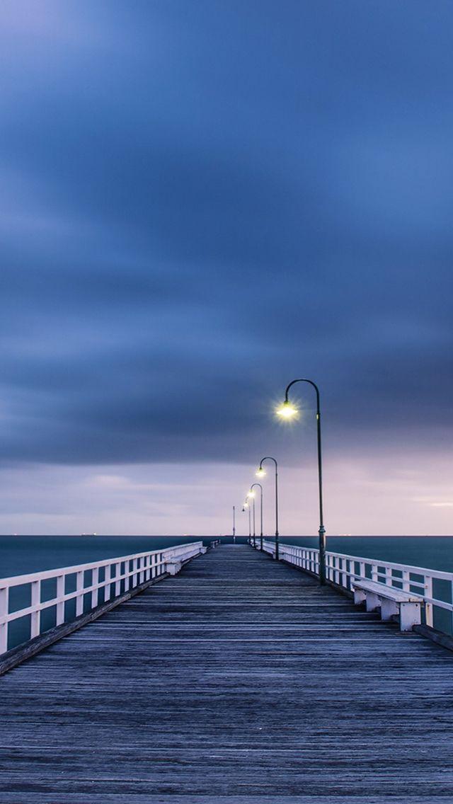 Bridge to Ocean #iPhone #5s #Wallpaper | http://www.ilikewallpaper.net/iphone-5-wallpaper/, welcome to download more here.