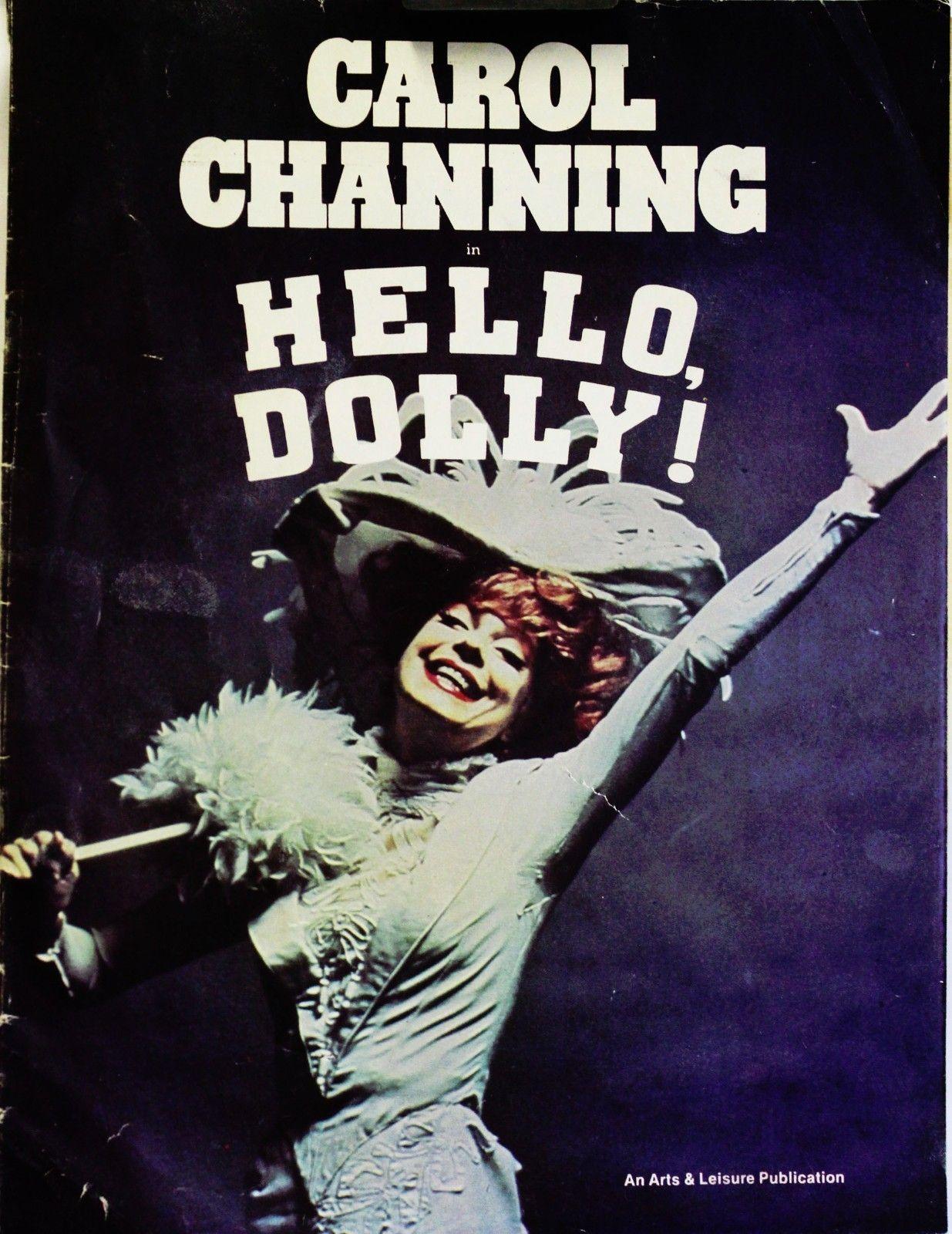 Theater Program Hello Dolly Carol Channing 1977 | Theatre ...