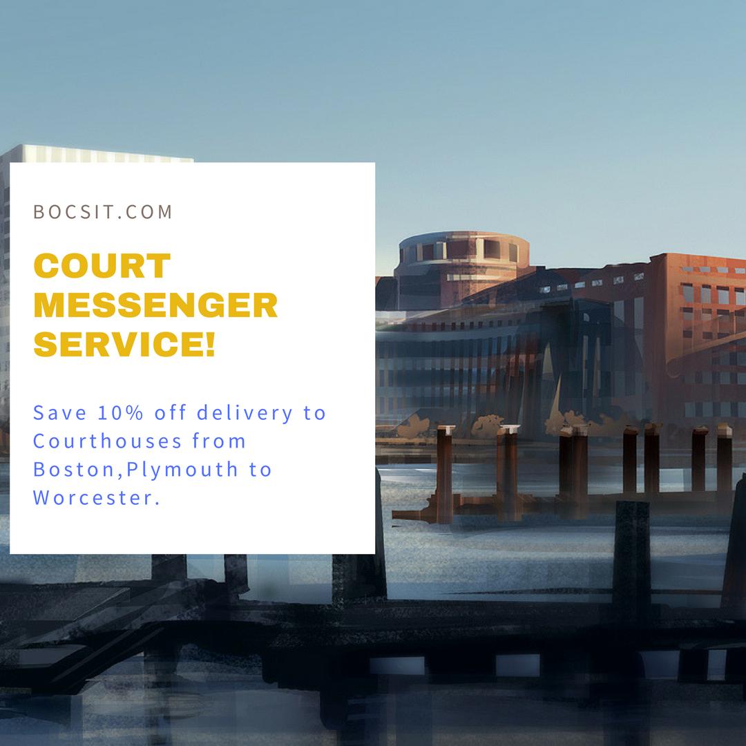 Bocsitsameday Court Messenger Service In Boston Documents Hand