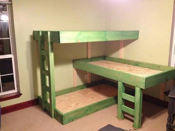 Build This Space Saver Triple Bunk Bed Kids Love It