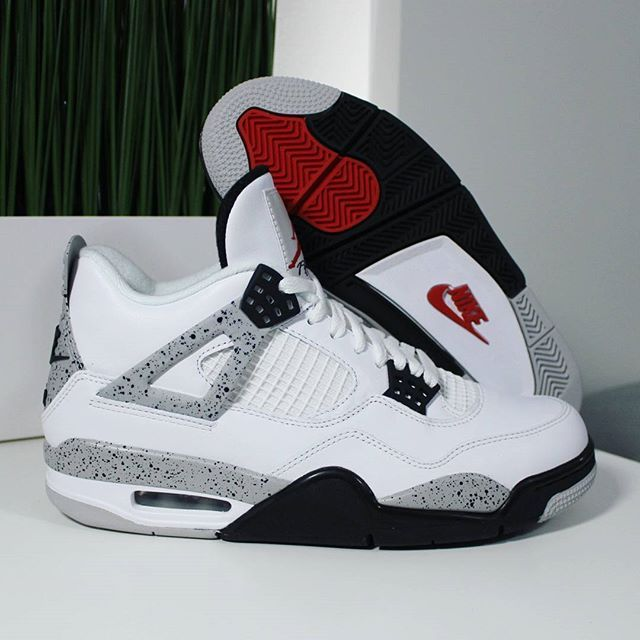 91114518bcb829 Go check out my Air Jordan 4 Retro OG White Cement on feet and close up. Channel  link in bio.