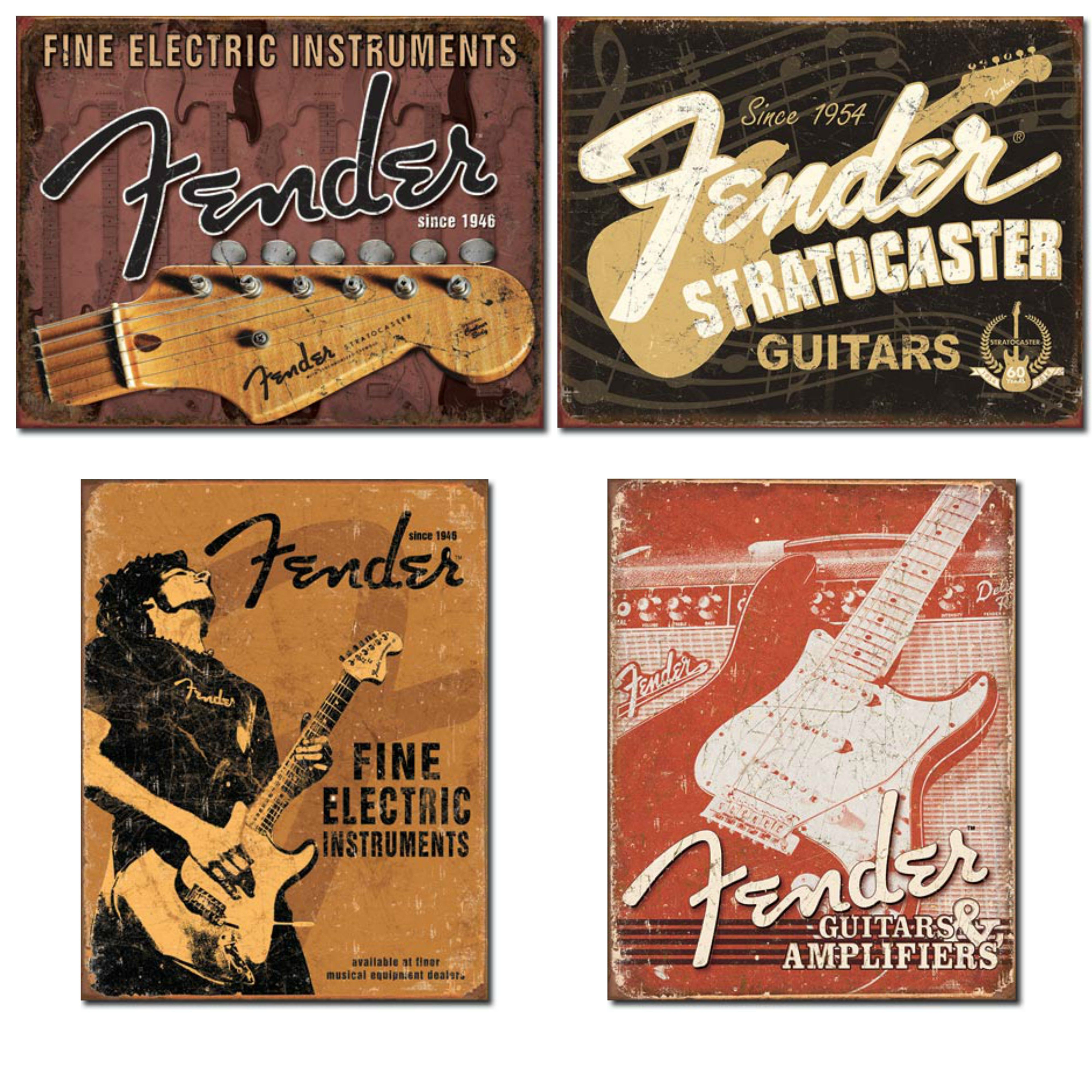 Fender Guitar Tin Sign Bundle #fenderguitars