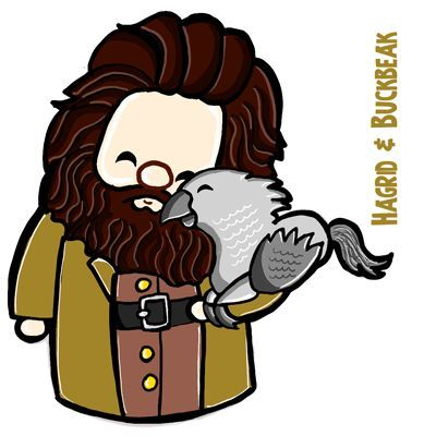 How To Draw A Cute Chibi Hagrid And Buckbeak From Harry Potter