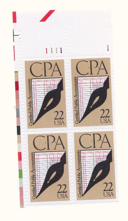 CPA 22 Cent US Stamps For My Accountant Brother