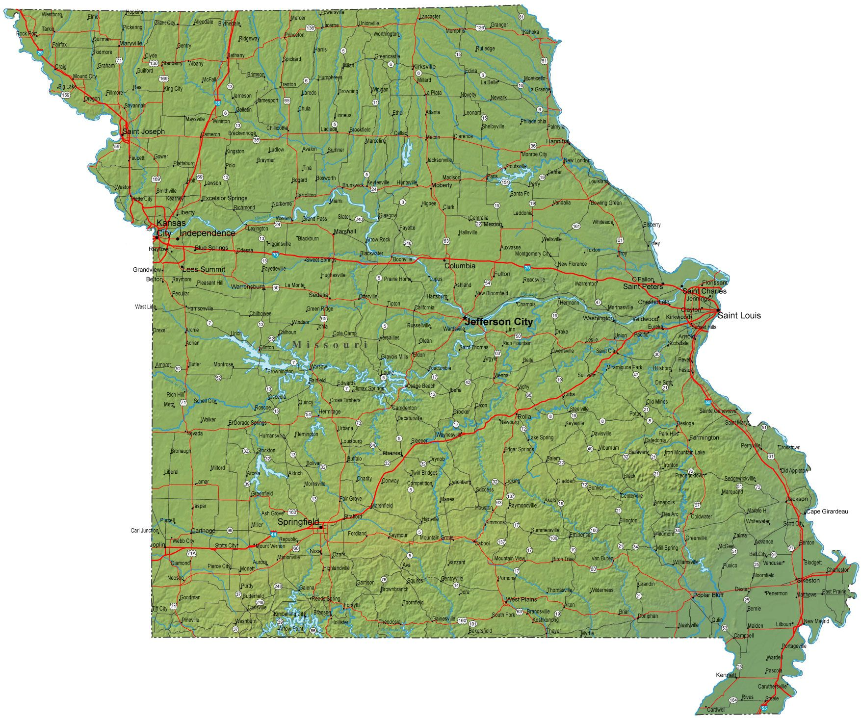 Map of Missouri - - Yahoo Image Search Results