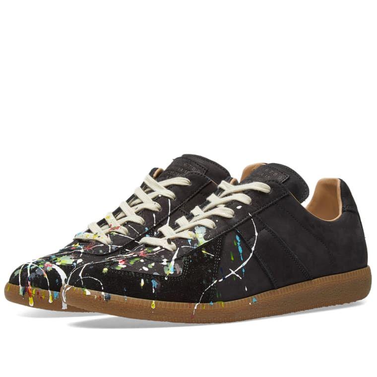 120e41f57190df Maison Margiela 22 Painter Leather Replica Sneaker Black 1