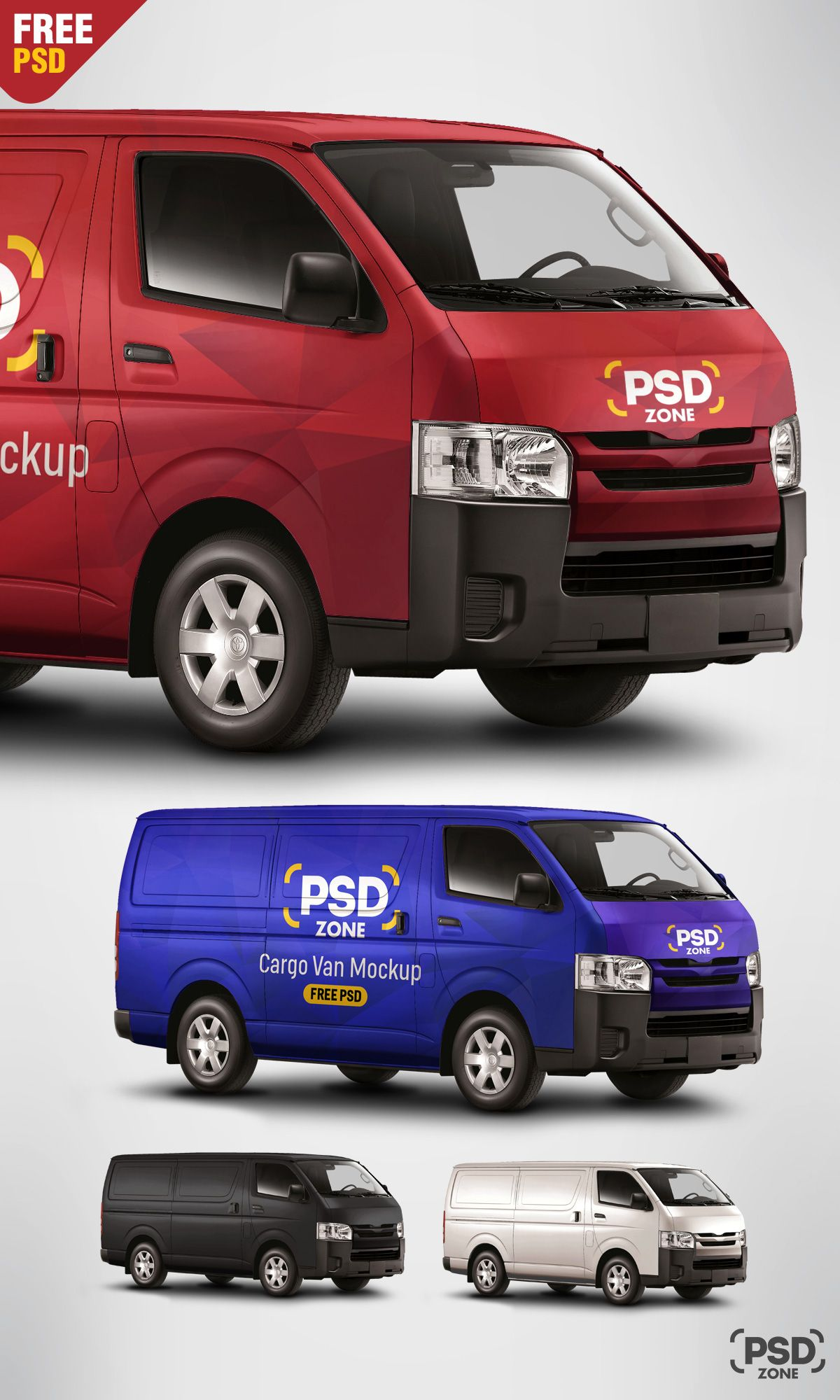 The Freebie Of Day Is Cargo Van Mockup Free PSD High Quality Comes With Resolution And Photorealistic Model Image