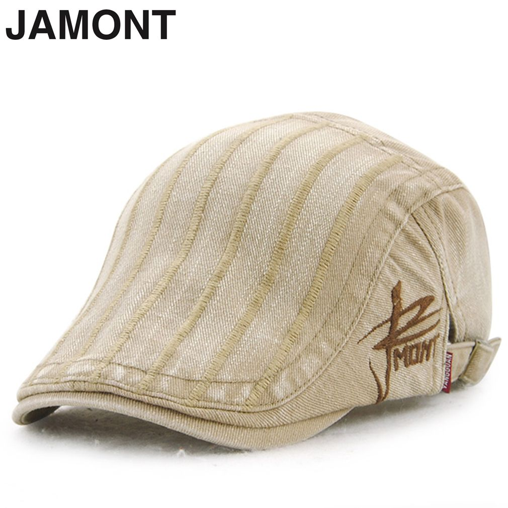 015525dc64e7b Click to Buy    2017 New JAMONT Retro Vintage Men Male Autumn Winter New  Style Casual Cotton Belet Cap Hats Wash Water Flat Cap Drop Shipping   Affiliate