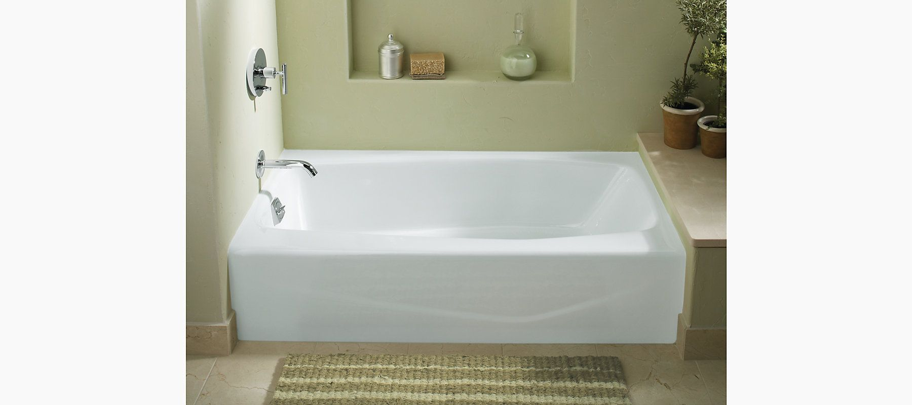 Hohler Villager 60 X 30 1 4 Alcove Commercial Bath With Left Or