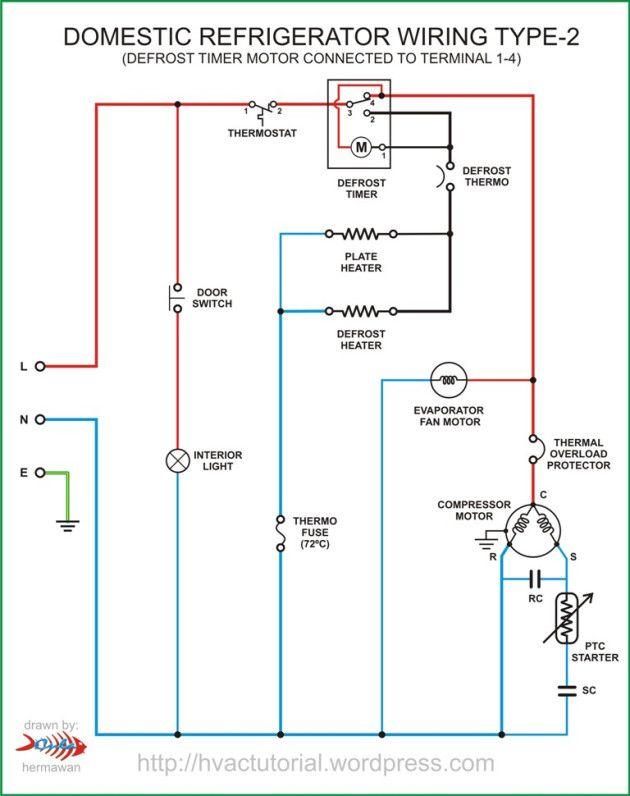 Refrigerator Wiring Type 2 Circuit Diagram Electrical Wiring Diagram Electrical Circuit Diagram