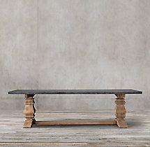 Salvaged Wood Marble Trestle Rectangular Dining Table Rectangular Dining Table Salvaged Wood Dining Table
