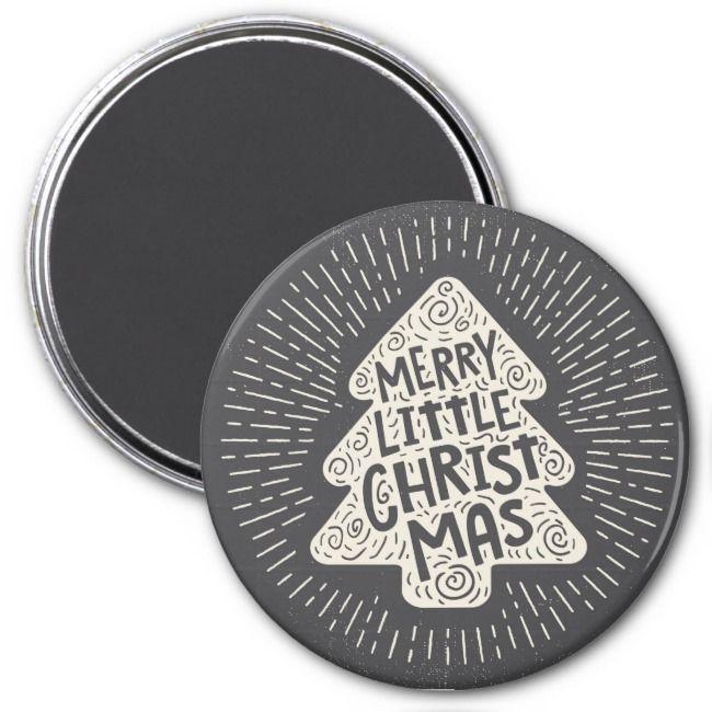 Vintage Merry Little Chrismas Magnet