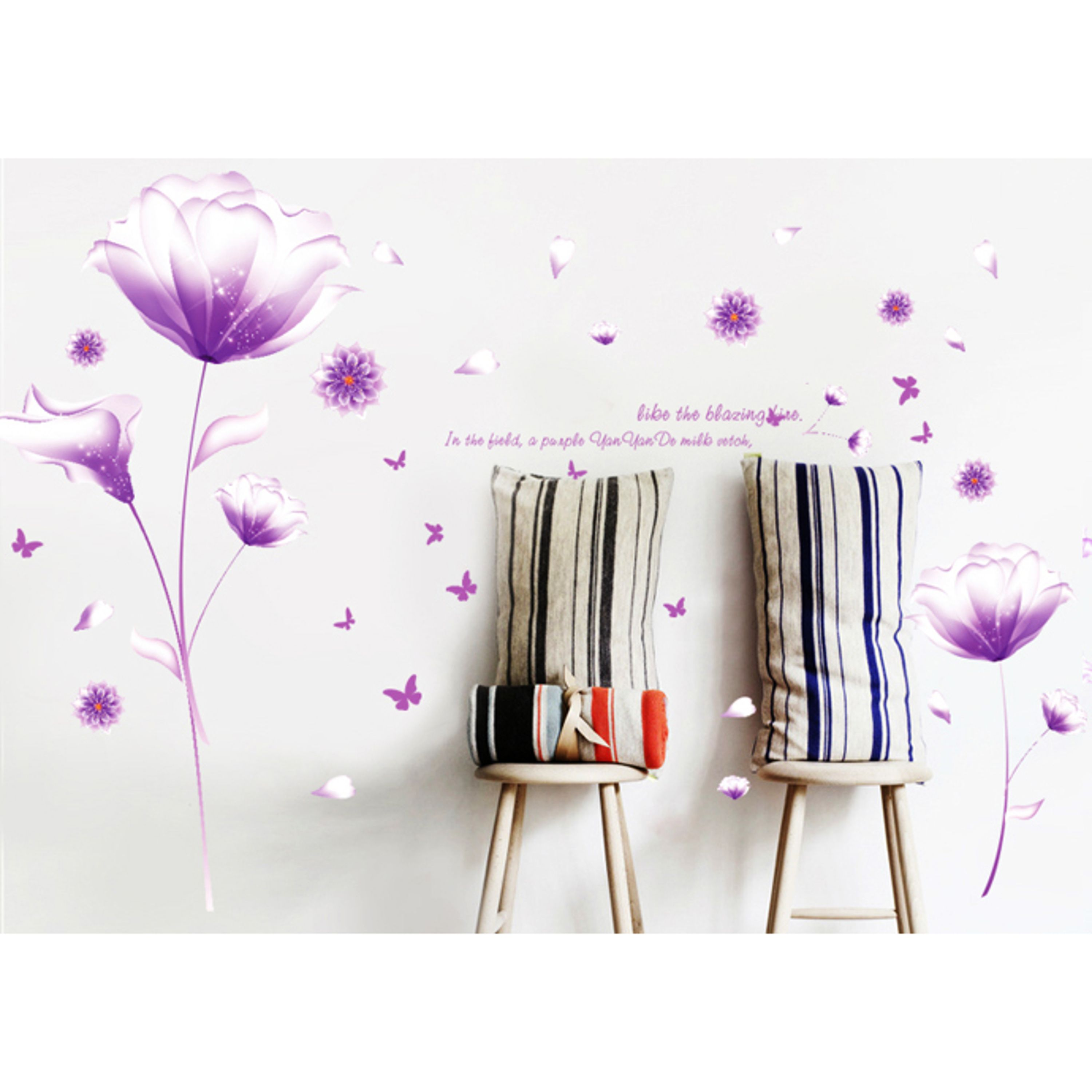 Flower Wall Decal Floral Wall Decals Milkvetch Flower