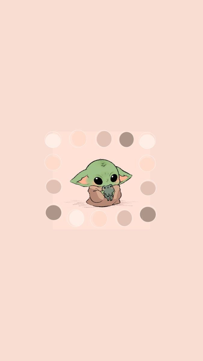 Baby B A B Y Y O D A W A L L P A P E R In 2020 Yoda Wallpaper Cute Cartoon Wallpapers Yoda Sticker