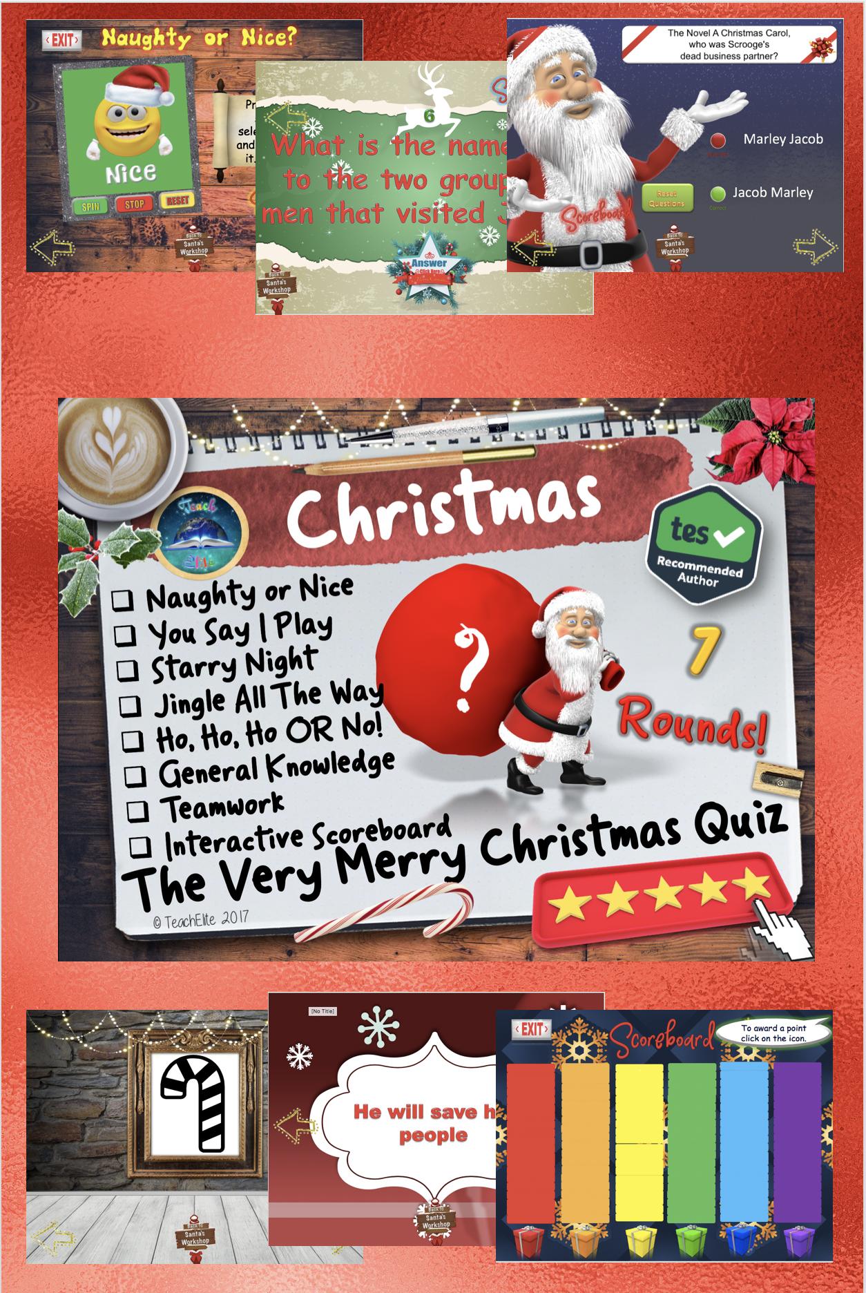 Christmas Quiz Secondary school teaching, Christmas quiz