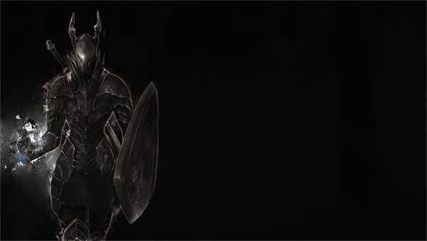 05悪魔のようなデザインの鎧を着た黒騎士のかっこいいイラスト